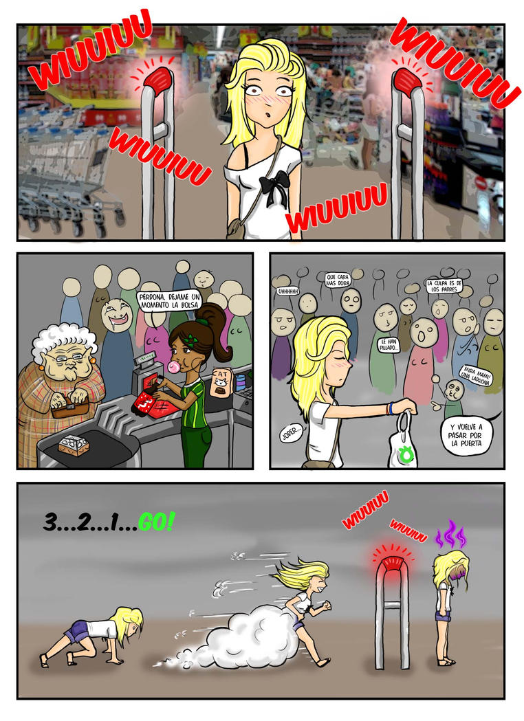 Incident at the supermarket  1/2 by emimery