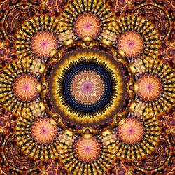 Golden Star Burst Mandala