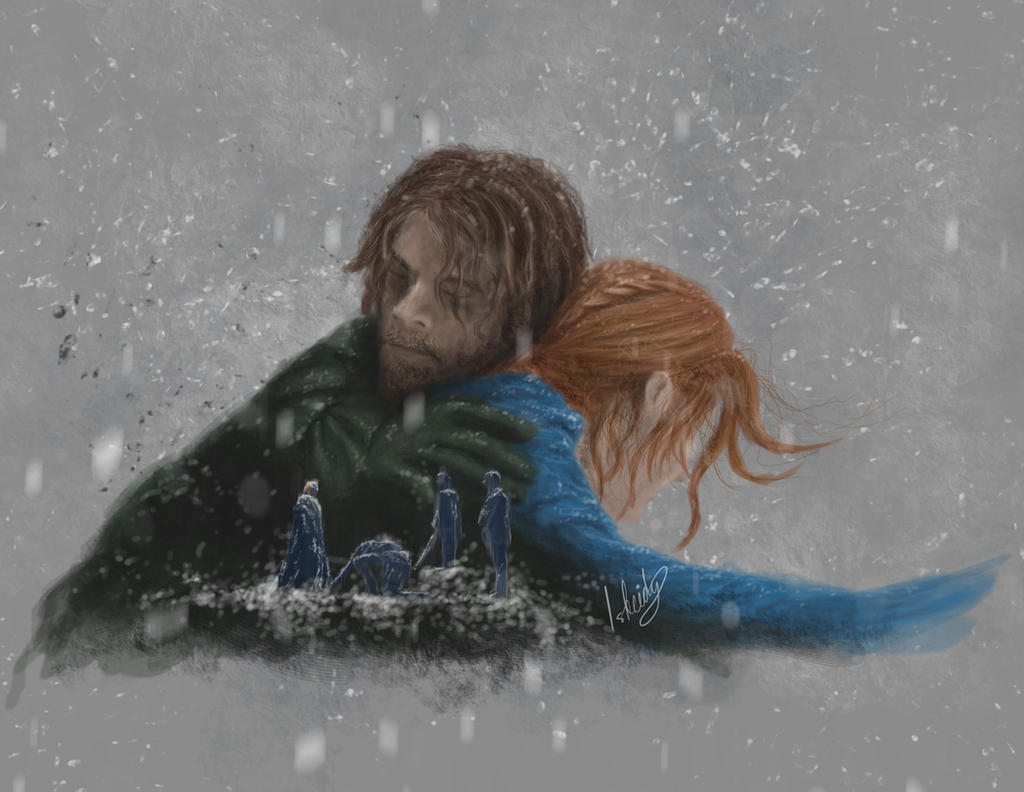 6x01 The Red Woman: Sansa and Theon by isbeidy