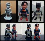 3D Printed Superman - Batman Chibi Figure by praywibowo