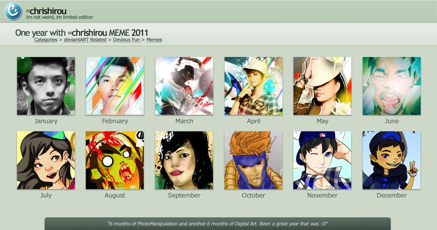 chrishirou 2011 Art Meme by chrishirou