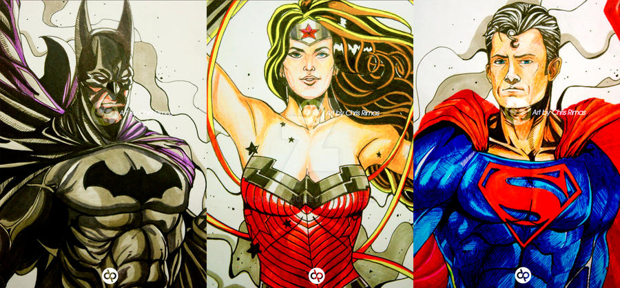 DC Trinity by chrishirou