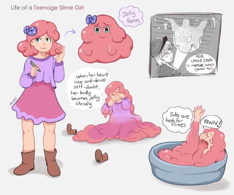 Rosa the Teenage Slime... Girl Yawn Clipart