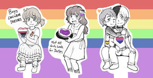Happy Pride Month with queer+ teens by Joichiroll