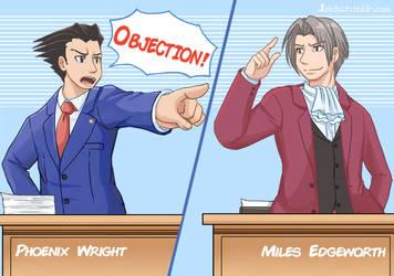 Ace Attorney Court Fanart by Joichiroll