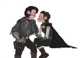Smuggler Ben Solo x Darkside Rey by flybynite19