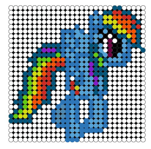 Perler Bead Templete 01- Rainbow Dash01 by MicroGalaxies on DeviantArt