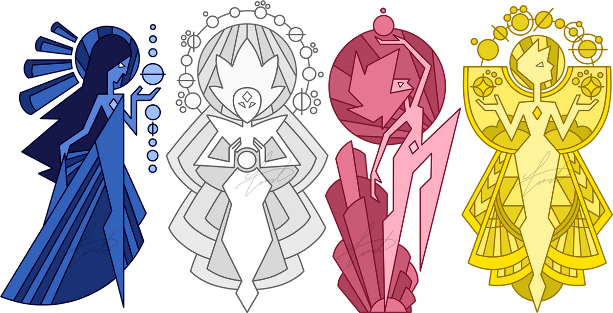 The order of the diamonds by gustavothehuman on deviantart for Yellow diamond mural