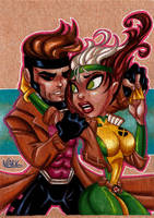 Rogue and Gambit Commission by NLark