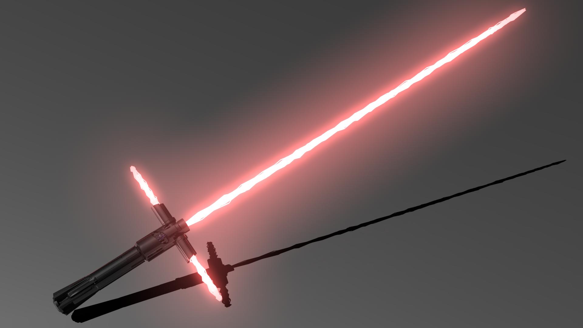 Световой меч кайло рена своими руками