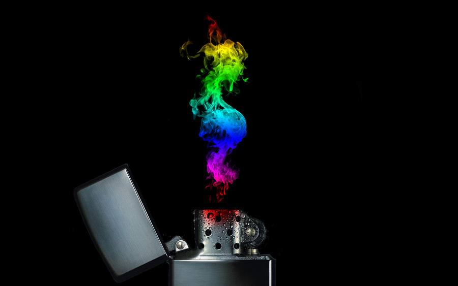 Rainbow Flame Zippo by andrewdile on DeviantArt