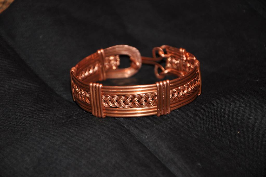 Woven Copper Bracelet by claire109