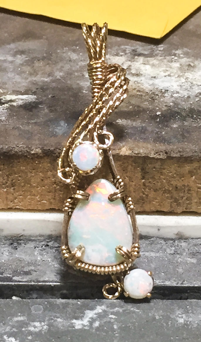 Custom opals in 14k gold by ClaireKincaid