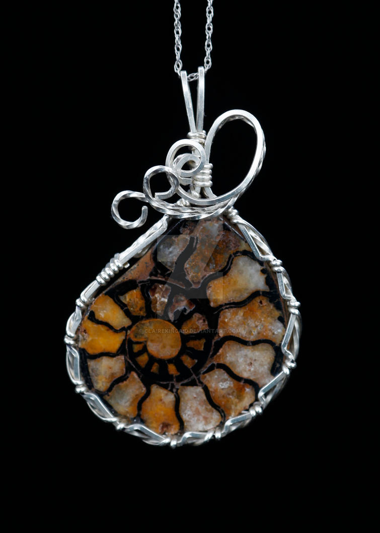 Ammonite Pendant by ClaireKincaid