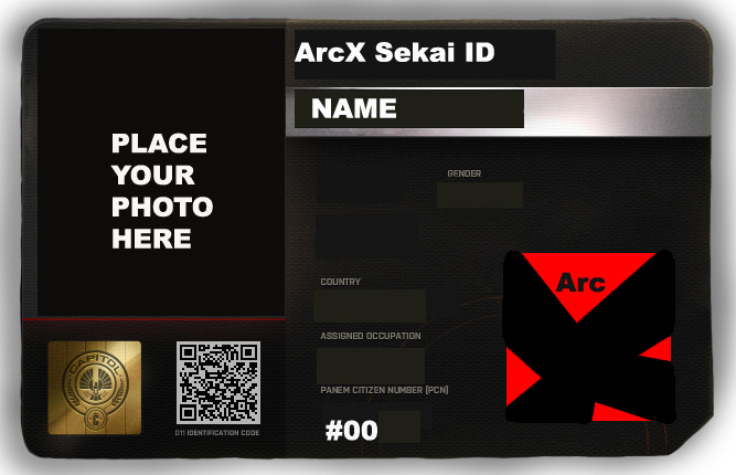 ArcX Blank ID Card Template By Hushjaniz On DeviantArt - Card template free: blank id card template