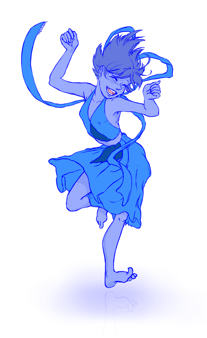 "Something I needed to draw after watching ""Nitty Gritty"" - www.youtube.com/watch?v=t63kQ0… . I'm full of happiness and who could be a bigger challenge to cheer up than old Lapis Lazuli?"
