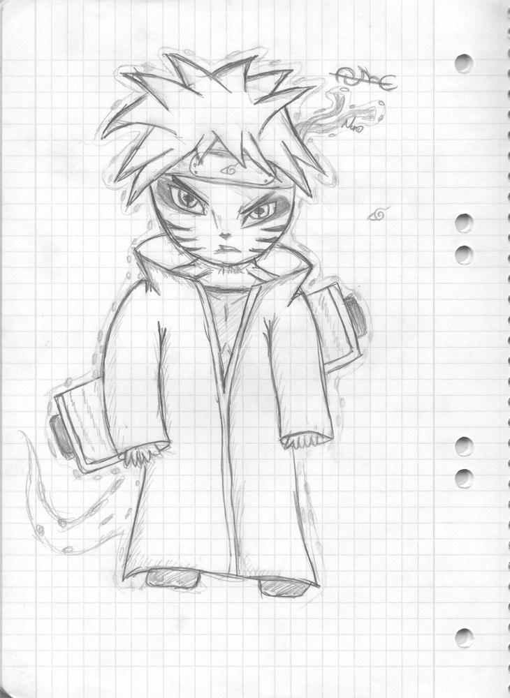Naruto Sage mod... Naruto Kyuubi Sage Mode Drawing