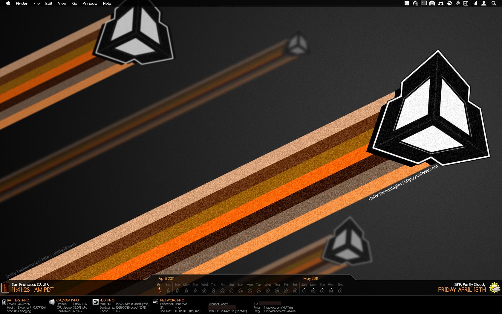 OS X Desktop - Orange Love by HiggyB