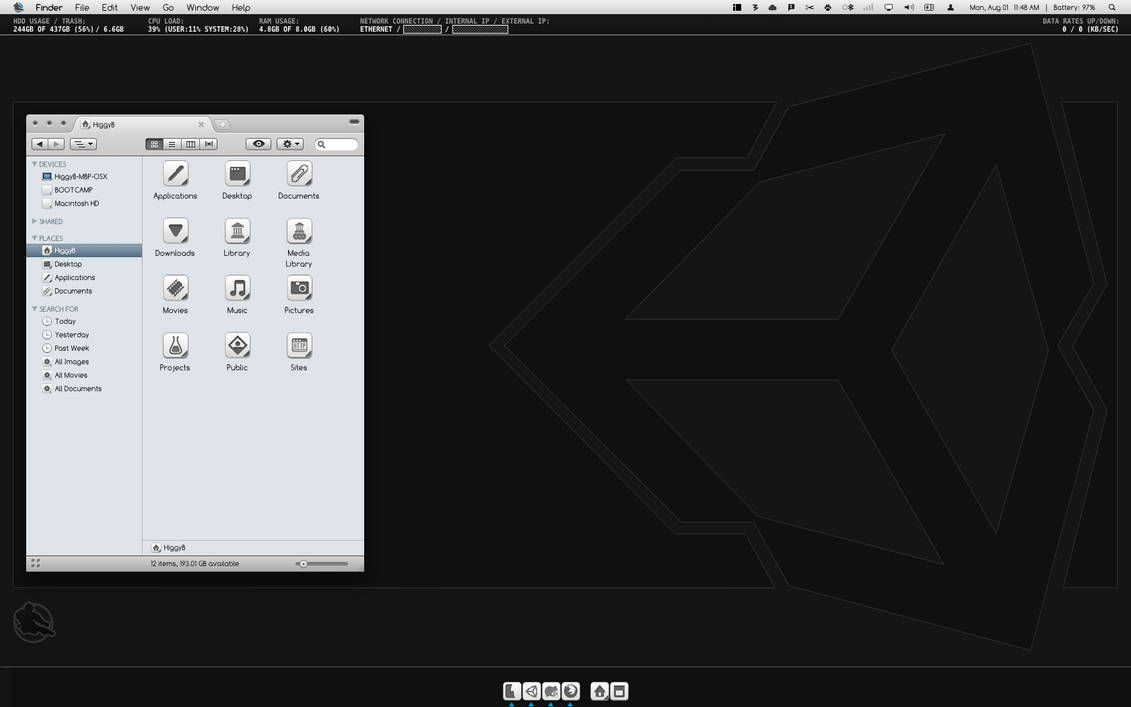 OS X Desktop - For my Ninjas