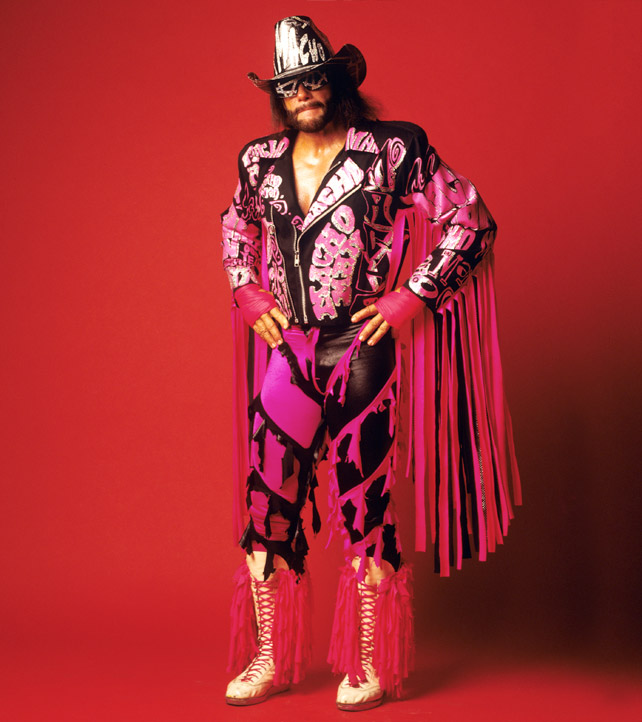 mocho men Product description macho man randy savage cream of the crop  violet tee shirt for men.
