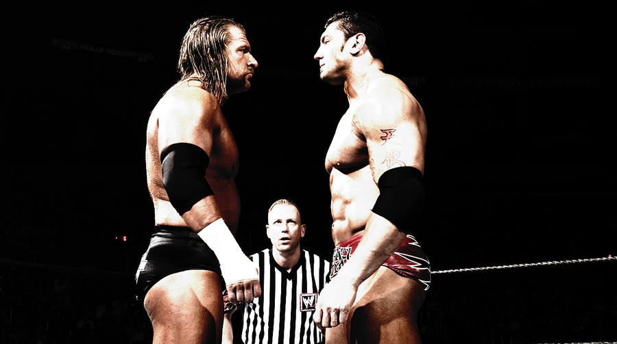 Image result for triple H vs batista
