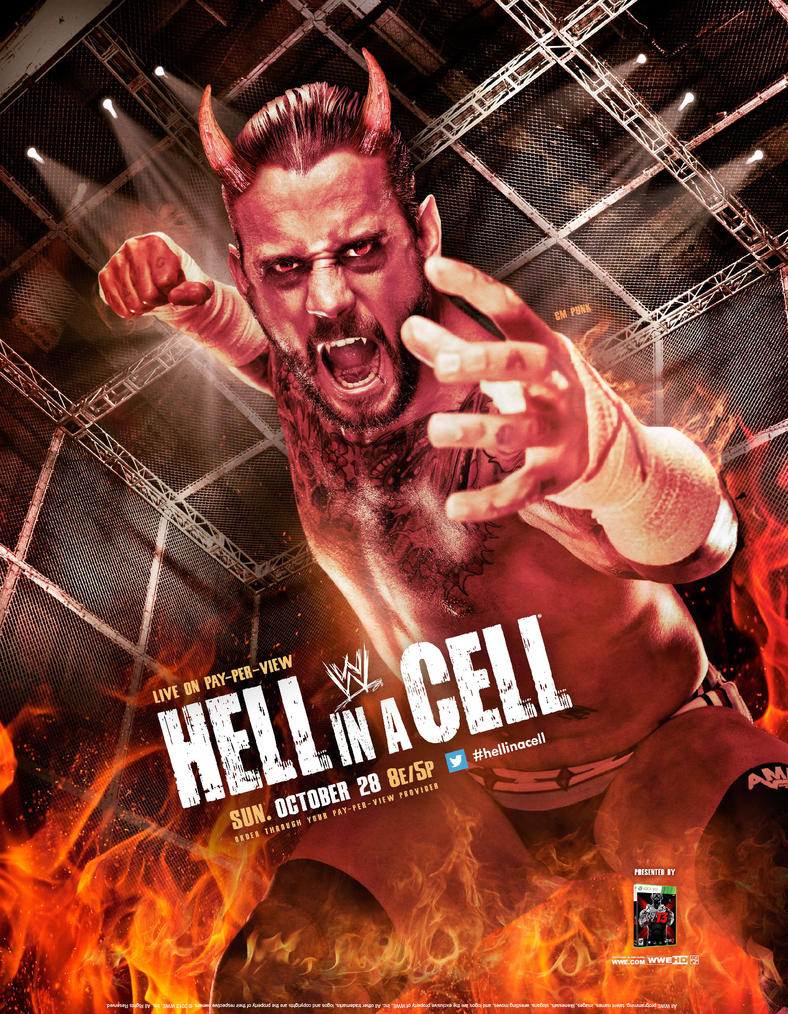 WWE Hell in a Cell 2012 Poster by windows8osx