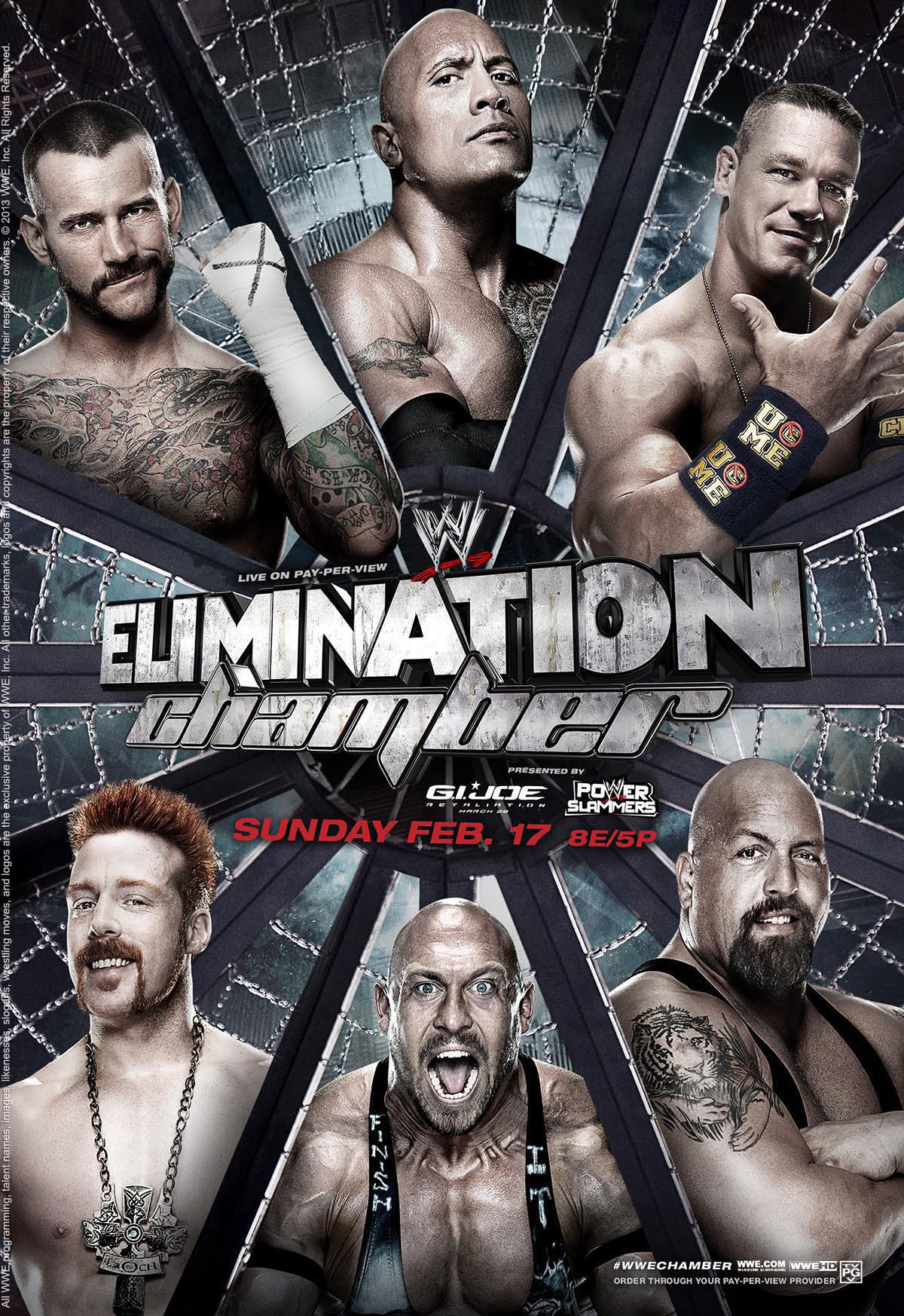 WWE Elimination Chamber 2013 Official Poster by windows8osx