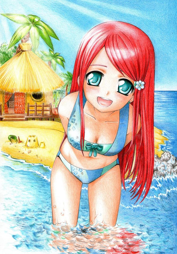 anime beach girlshunyakai on deviantart