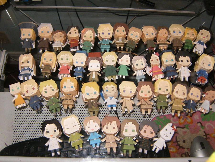 Hetalia paper dolls by KannaofSnow
