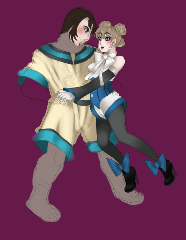 Damos And Sheena Wip By Azoth Eater On Deviantart