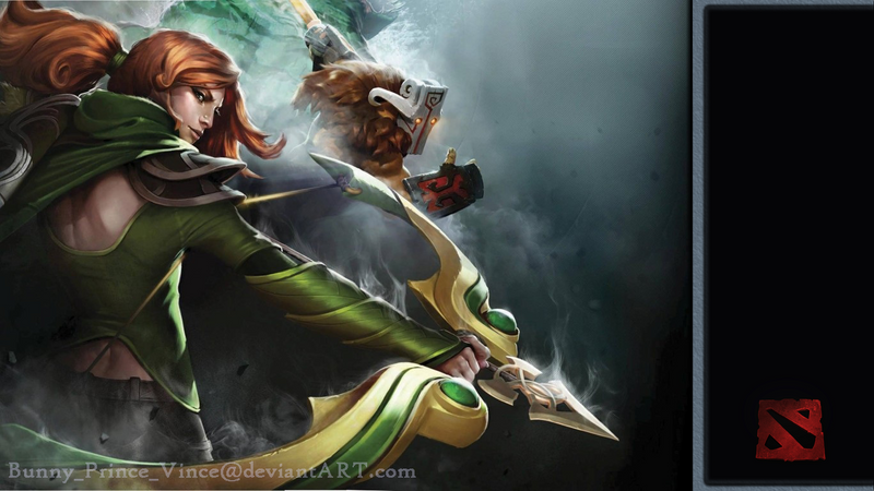 Dota 2 The Windrunner And Juggernaut Wallpaper By Bunny Prince Vince