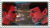 Kirk and Spock stamp by TrekkyStamps
