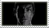 Spock bw stamp by TrekkyStamps