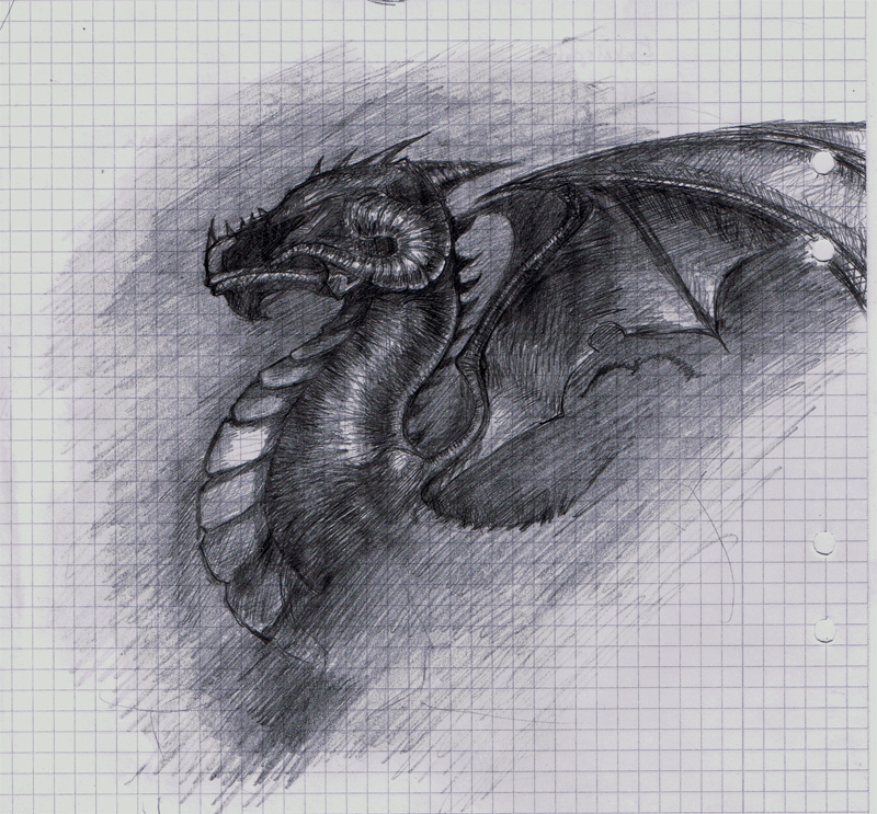 Mathbook dragon by Alantyn