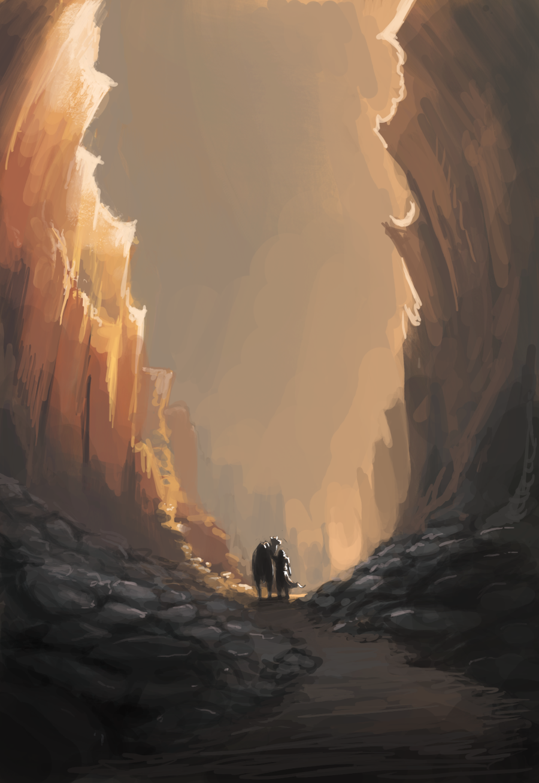 Desert cliffs by Alantyn