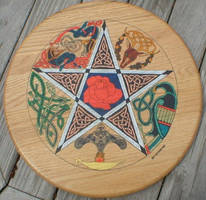 Celtic Art Pentagram by groomporter