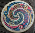 Three-track Celtic Spiral Cribbage board
