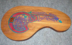 Celtic Cribbage Board by groomporter