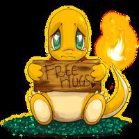 Charmander 'Free Hugs' Commission by SpagettiUrchin