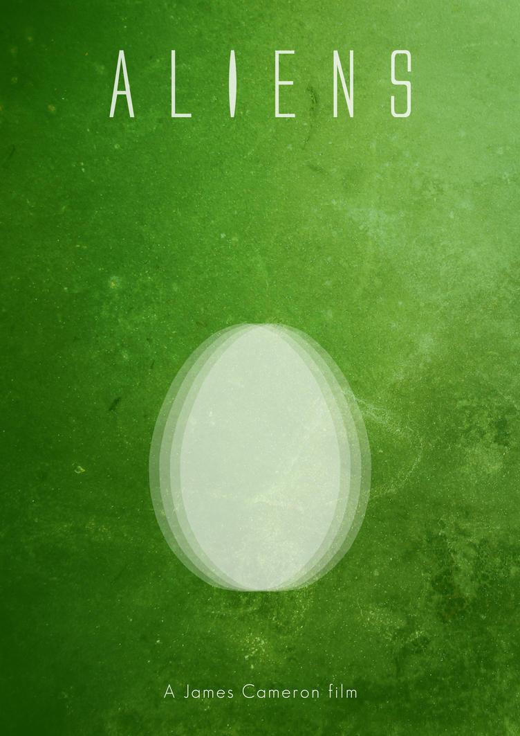 aliens movie poster by nrirureta on deviantart