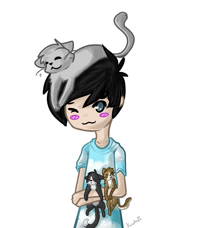 amazingphil and some cats by Karokas