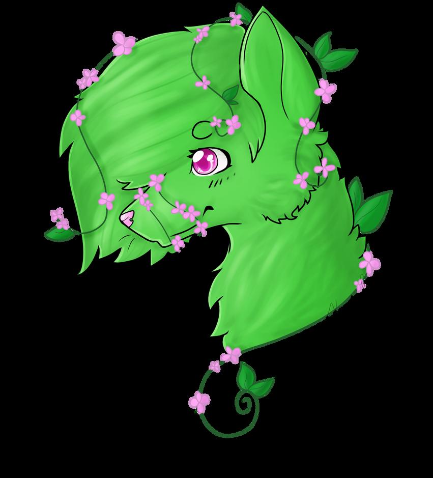 flower dog.png by Karokas