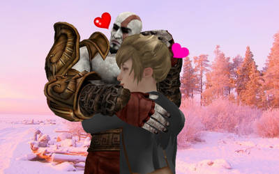 [MMD] Kratos hugging Kate Marsh