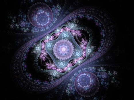 Julian fractal background.