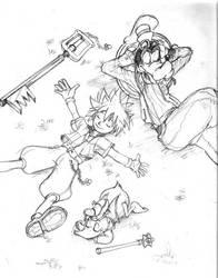Kingdom Hearts Pencil by babalisme