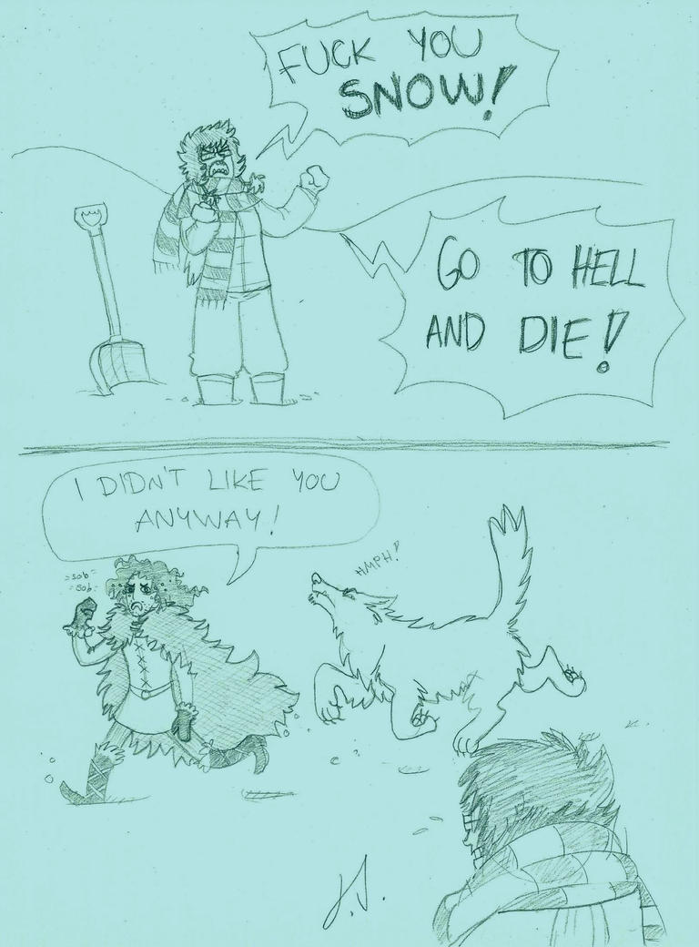 Fuck Off Snow by Tundradrix