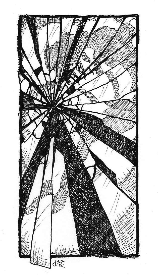 Inktober Shattered by Tundradrix
