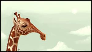 girafe sketch by Pablander