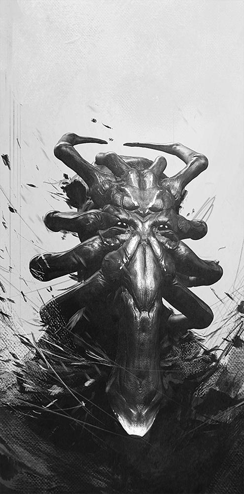 Arac creature bust by Pablander