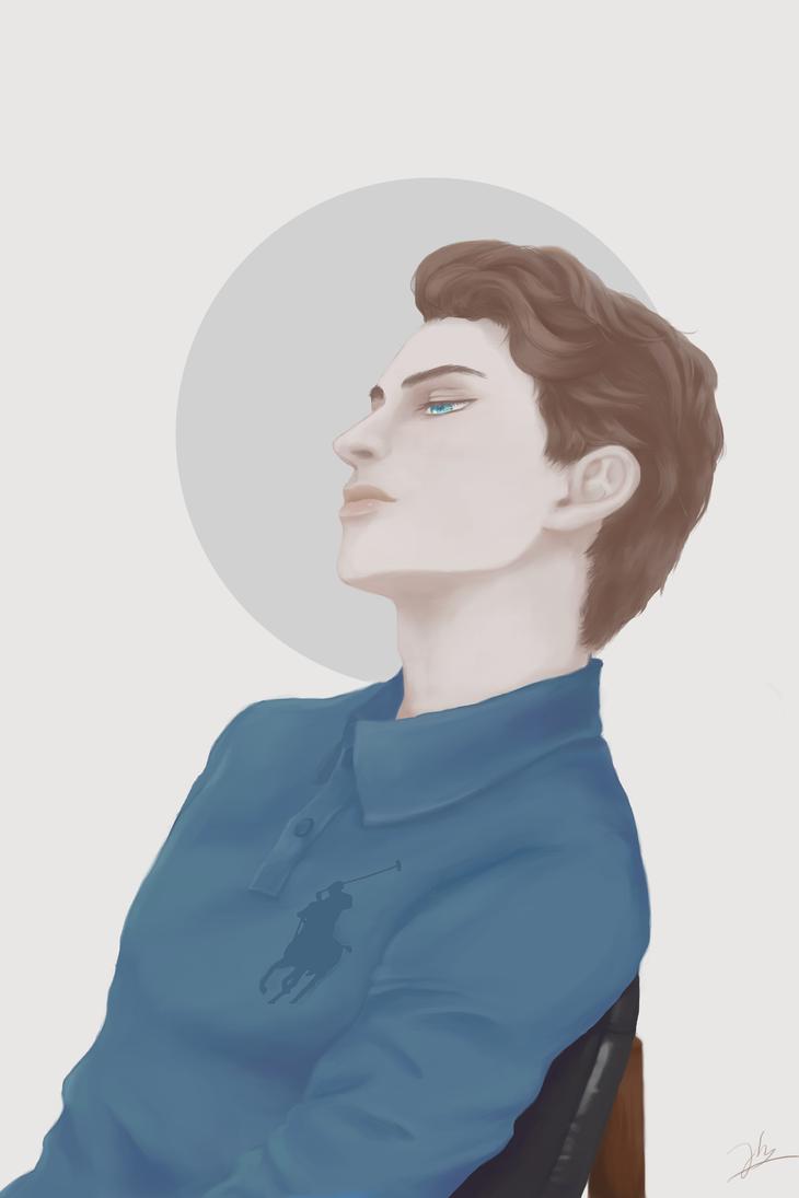Male portrait study by watanabe1